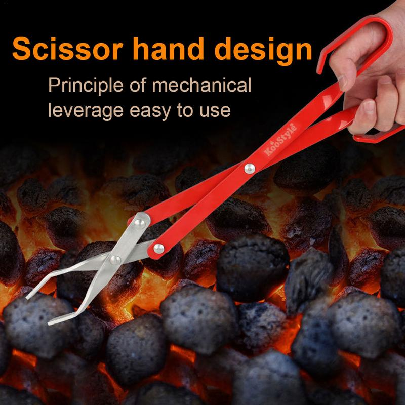 Tools Stainless Steel Charcoal Clip BBQ Tongs Barbecue Accessories Food Clip