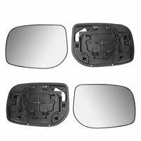 Пара автомобильных зеркал заднего вида с боковым крылом, серебряное ненагреваемое и базовое, пригодное для Toyota Yaris 2006-2009, зеркало заднего ви...