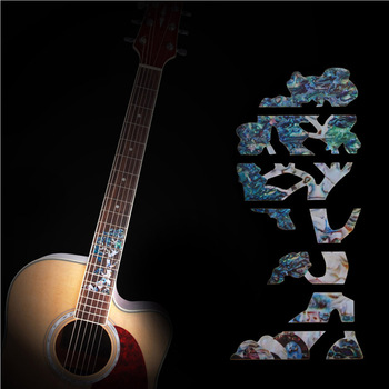 Electric Acoustic Guitar Bass Inlay Stickers Tree of Life Ultra Thin Guitar Fretboard Decals PET For Guitar Parts Accessories acoustic electric guitar bass inlay sticker fretboard marker fret decal guitar neck decal guitar decoration accessories
