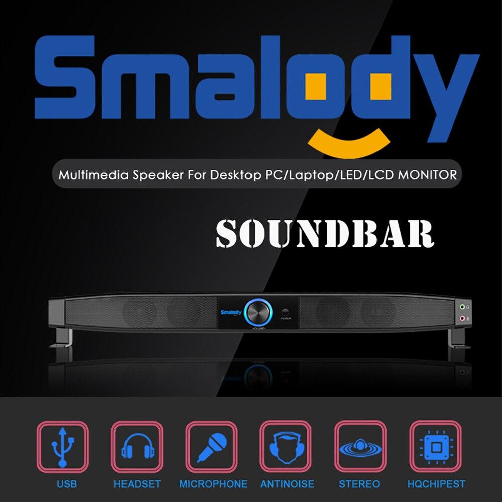 Smalody Soundbar Usb Powered Lautsprecher Heimkino 5 W Stereo Subwoofer W/mikrofon Unterstützung Linie In Musik Spielen Für Tv Computer Ein Kunststoffkoffer Ist FüR Die Sichere Lagerung Kompartimentiert Lautsprecher Unterhaltungselektronik