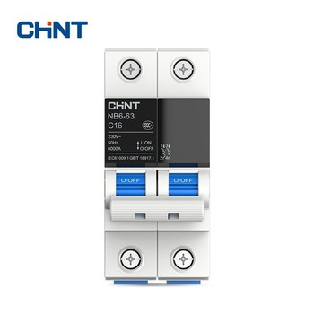 CHINT Miniature Circuit Breaker Overload Protection TaiChi NB6-63 2P Series Household Air Switch 10A 16A 20A 25A 32A 40A 50A 63A недорого