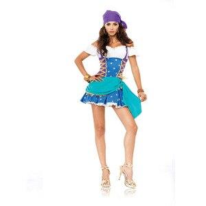 Image 5 - Halloween Gothic Pirate Costume Deluxe Femminile Capitano Fantasia Vestito Operato