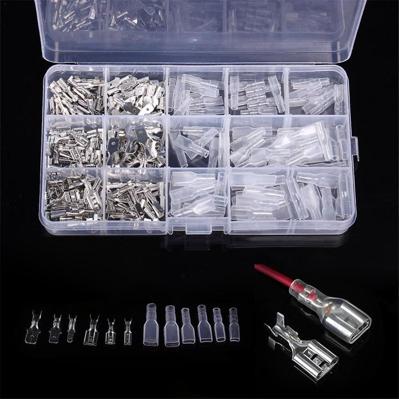 Cable Lugs 270pcs/ Set Plug Socket Set Car Electrical Connector Radio Terminal Spade Set Car Accessories