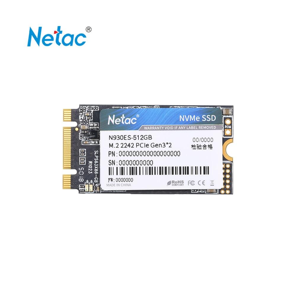 Netac N930ES SSD NVMe M.2 2242 SSD Gen3 * 2 PCIe 3D MLC/TLC NAND Flash disque SSD 128 256 512 GB