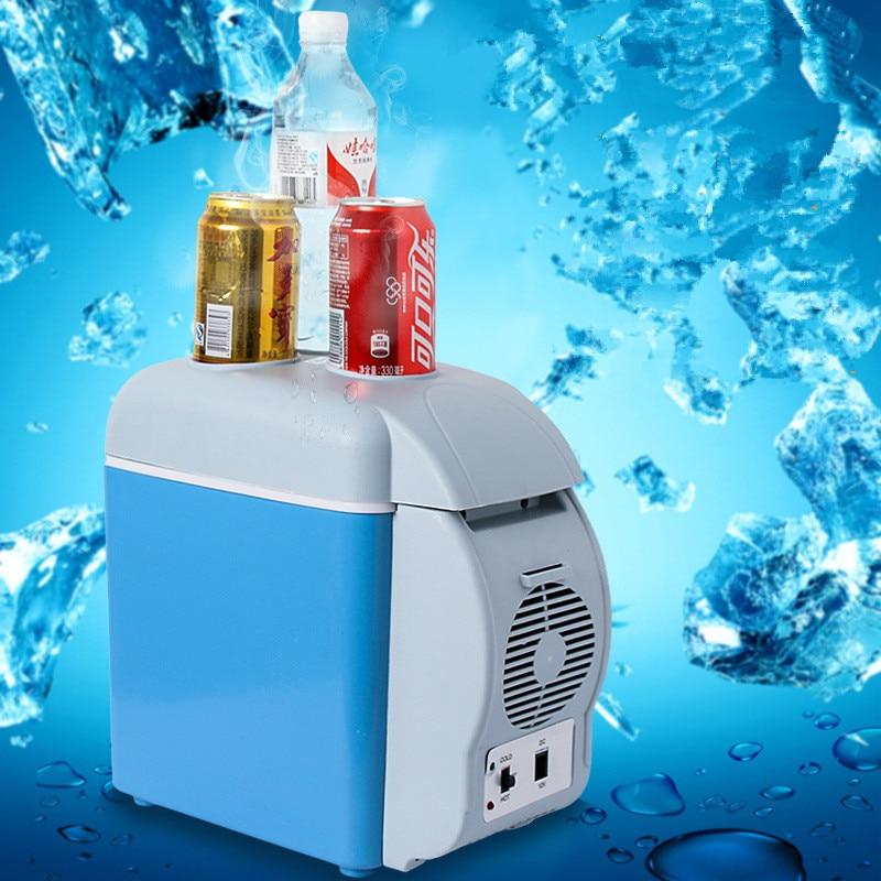 Холодильник автомобильный холодильник 12 В 7.5L Портативный Мини Автомобильный холодильник морозильник кулер теплее Multi-Функция домашний отд...