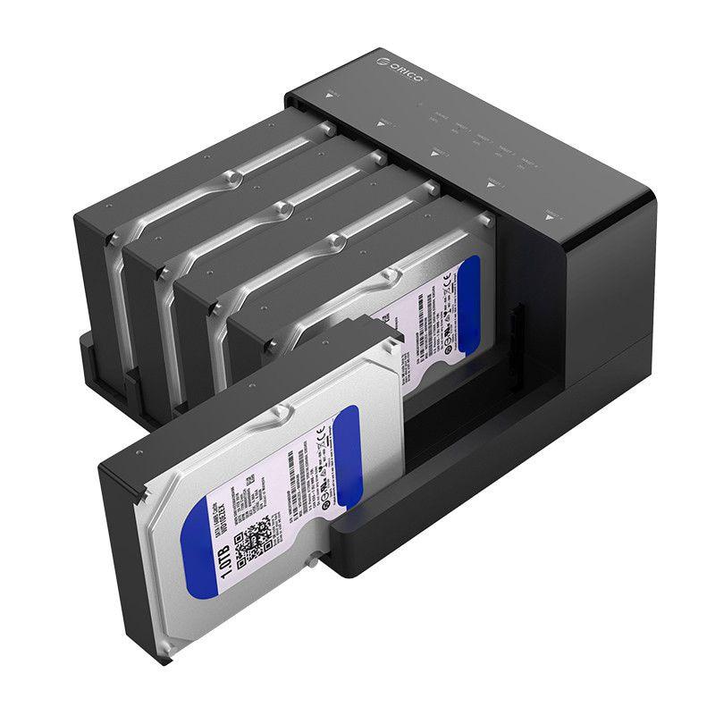 Orico 6558Us3-C 5 Bay Super Speed Usb 3.0 Docking Station HDD Ferramenta Livre USB 3.0 Para SATA Hard Drive Enclosure caso Adaptador