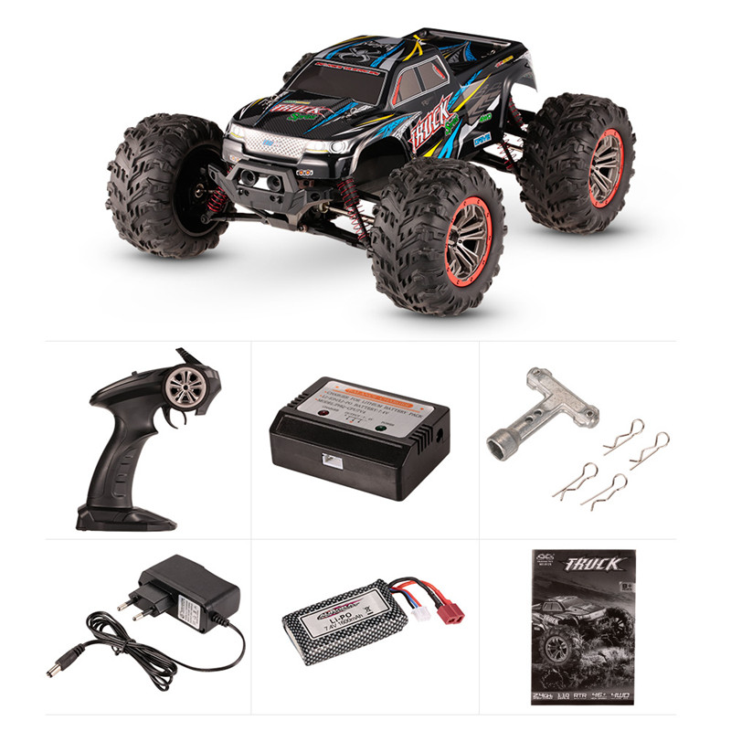 XinleHong 9125 1/10 2.4G 4WD 46km/h High Speed Racing Car RC Cars Short Course Truck Waterproof Toys Remote Control Models