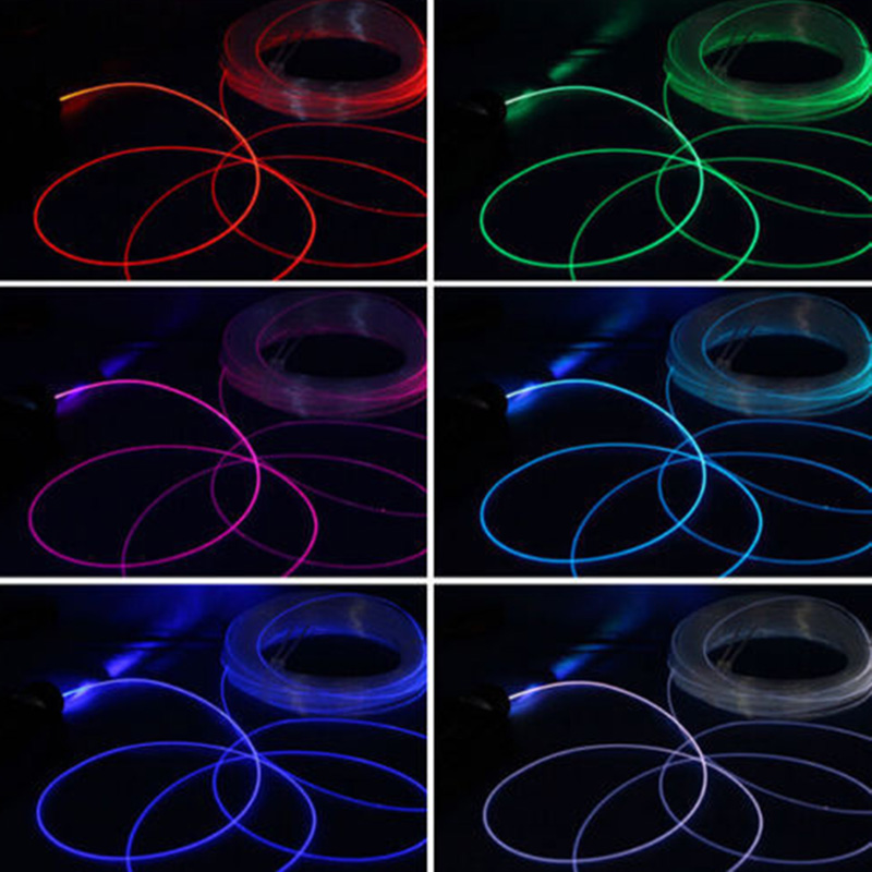 1pc PMMA Side Glow Optic Fiber Cable 1.5/2/3/4mm Diameter For Car LED Lights Bright Side Glow Optic Fiber Cable