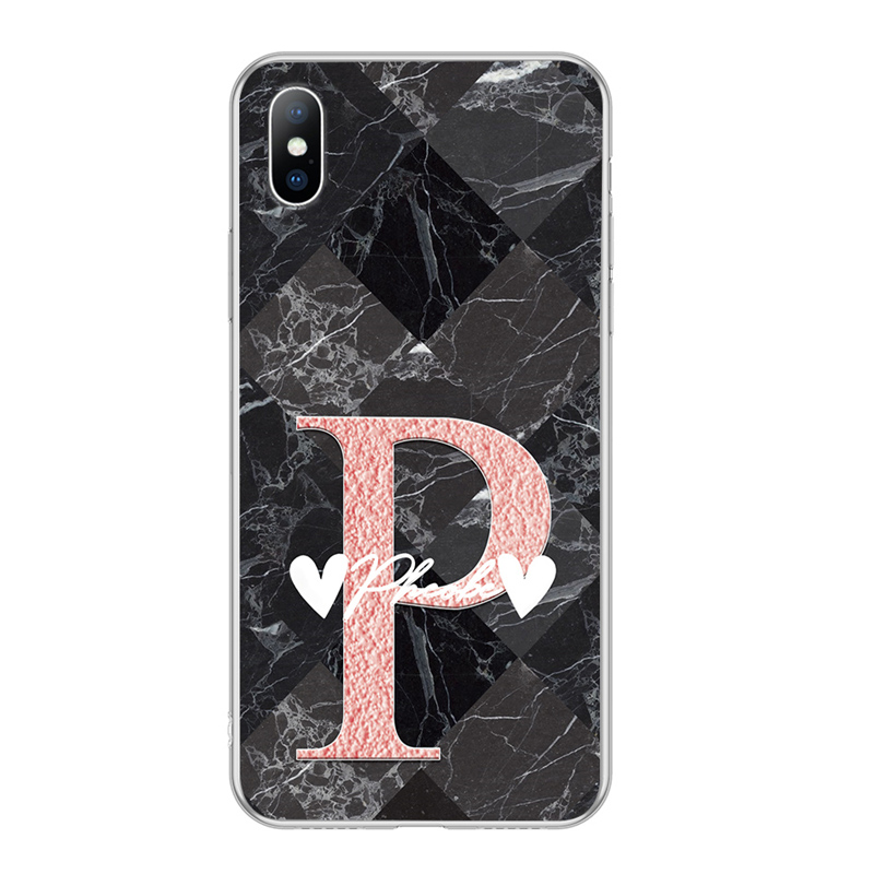 Image 4 - Lovebay DIY Name Custom Phone Case For iPhone 6 6s 7 8 Plus X XR XS Max 5 5s SE Fashion Customized Marble Soft TPU For iPhone X-in Fitted Cases from Cellphones & Telecommunications
