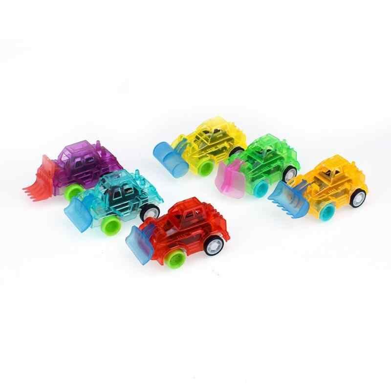 Oyuncak araba renkli şeffaf oyuncak araba çocuklar geri çekin küçük mühendislik araba modeli çocuk oyuncakları doğum günü Xmas hediye rastgele renk 1 adet