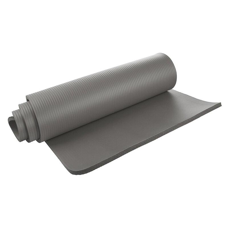 Tapis de Yoga 15mm d'épaisseur exercice Fitness Physio Pilates tapis de gymnastique tapis antidérapant, noir