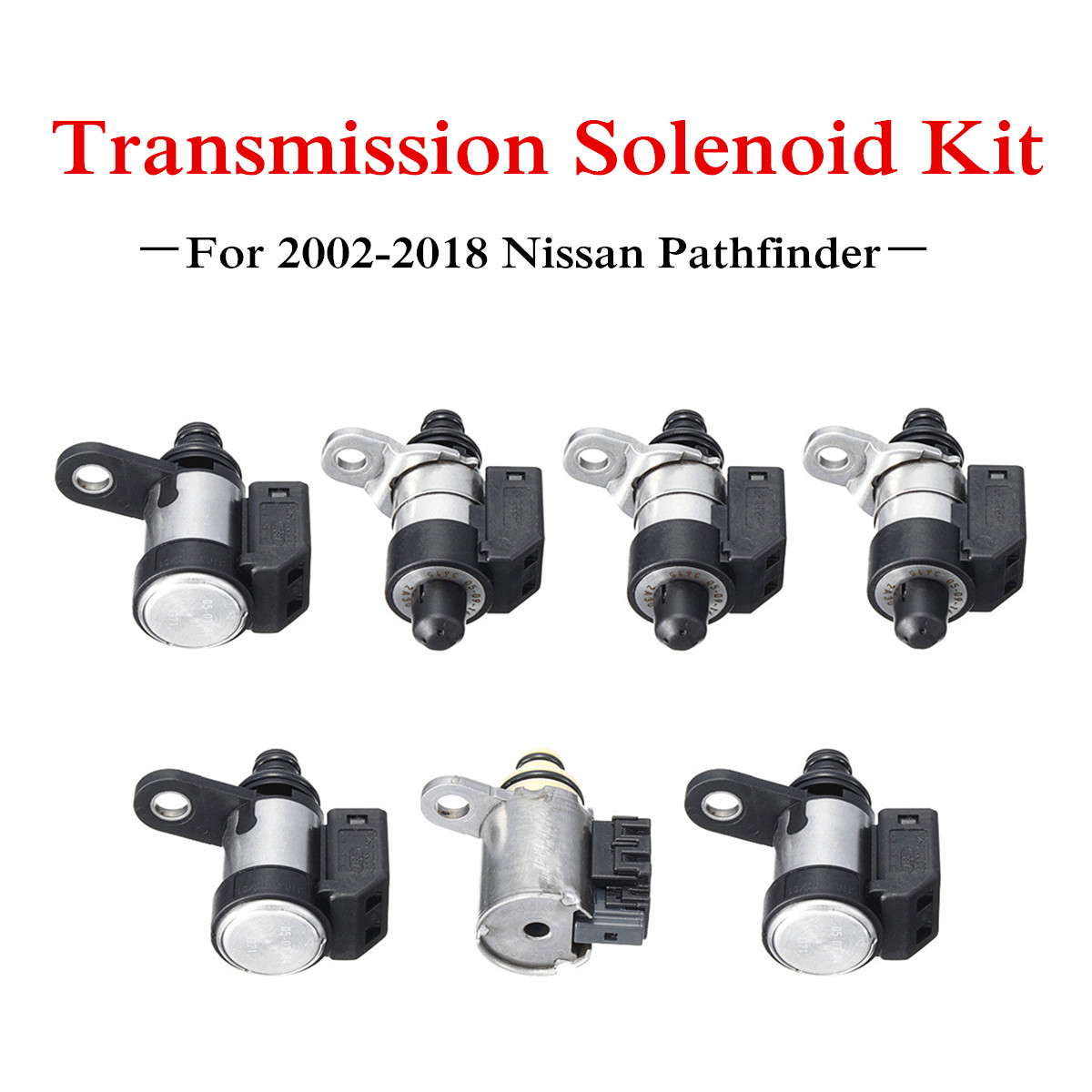 7x Automatic RE5R05A Transmission Solenoid Kit for Nissan Pathfinder 2002-2018 Front Brake-Band High & Low Reverse & EPC7x Automatic RE5R05A Transmission Solenoid Kit for Nissan Pathfinder 2002-2018 Front Brake-Band High & Low Reverse & EPC