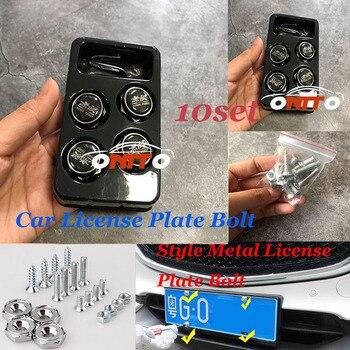 10set Nuts & Bolts For Mugenpower Logo Emblem Badge universal Car License plate Bolt fasteners Sealing screw caps