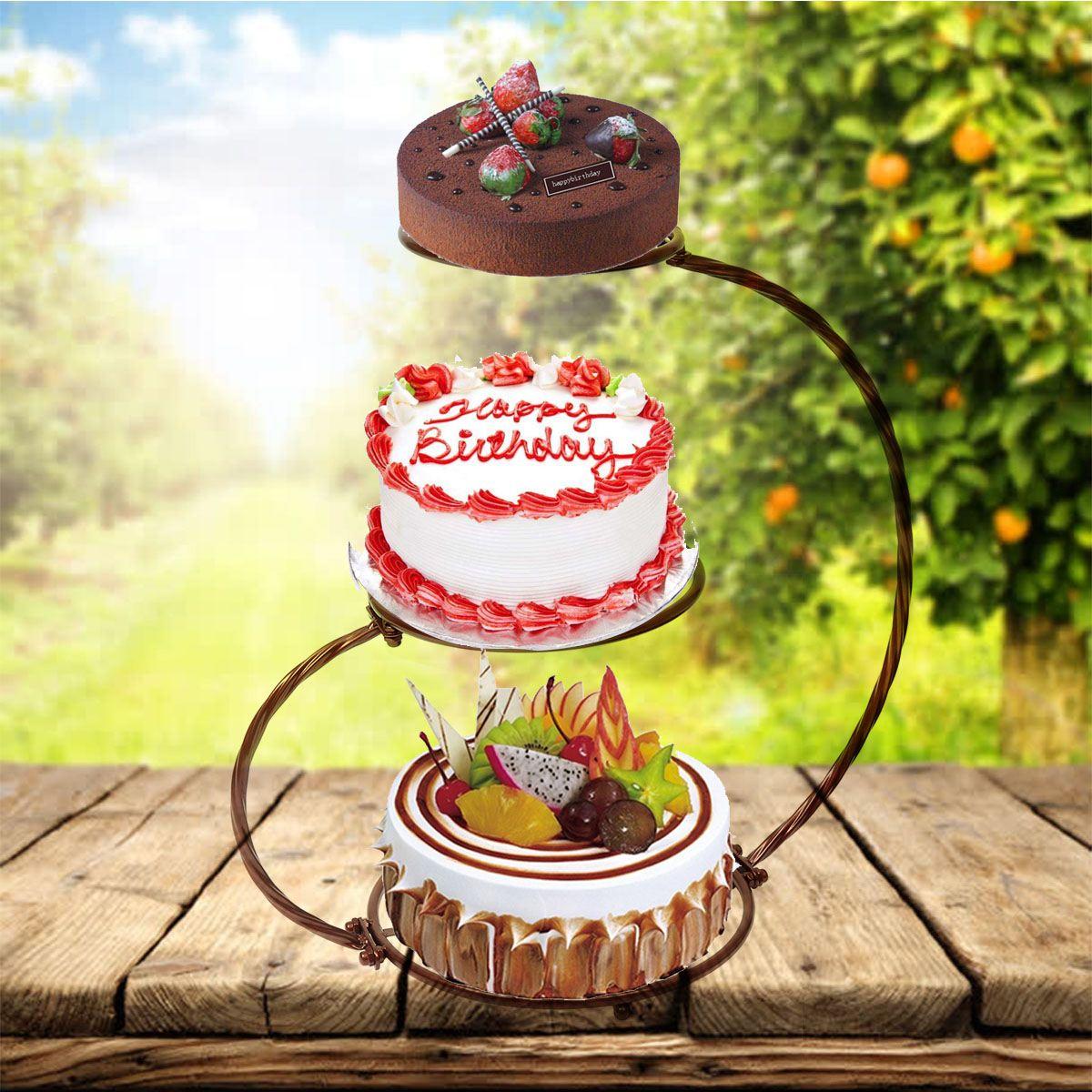 Support à gâteaux créatif en métal   4 couleurs, pour fête d'anniversaire et mariage, outil de cuisson de cuisine à domicile
