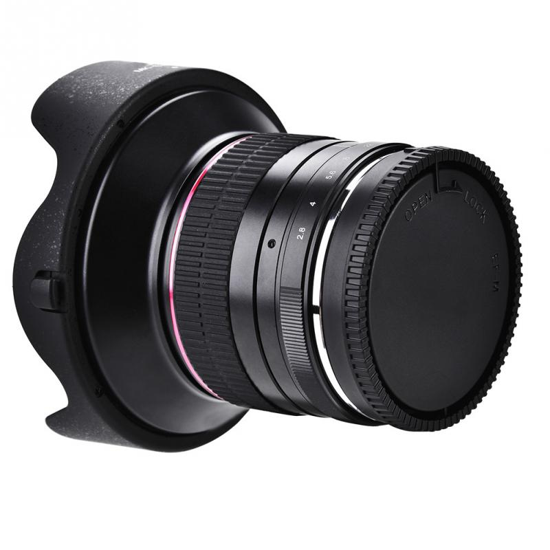 Mei ke 12mm F2.8 Manual Fo cus 99 Wide Angle Lens for Mirrorless Cameras-in Lens Adapter from