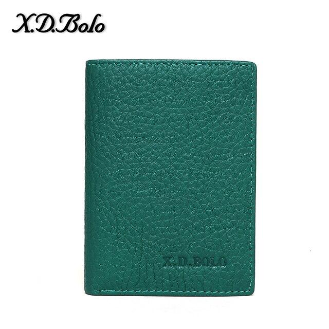 X D cartera de cuero pequeña para mujer de marca de lujo famosa Mini carteras y monederos de mujer con tarjetero de crédito corto para mujer