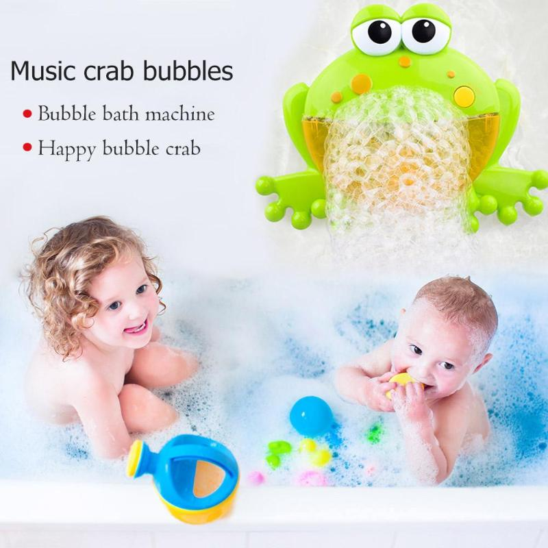 Classic Toys Bath Toy Ingenious Cute Baby Big Frogs Automatic Bubble Maker Blower Toy Music Bathtub Soap Machine Blower Maker Party Summer Outdoor Toy For Kids Sophisticated Technologies