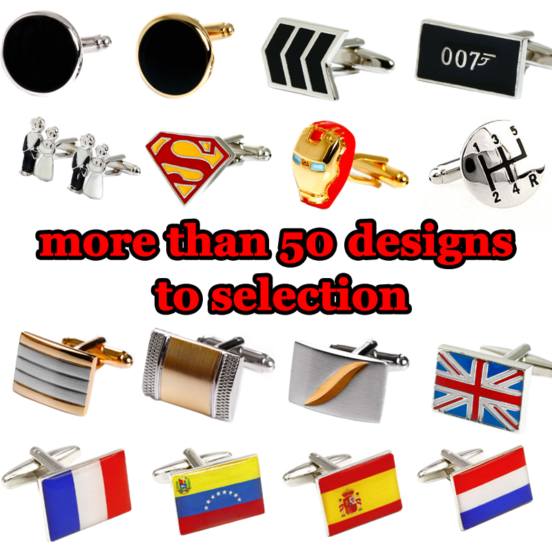 Big Promotion!! mix order 2prs/lot cufflinks for m...
