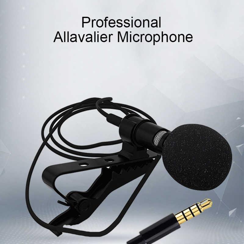 LEORY מיני Wired הקבל Lavalier מיקרופונים 3.5mm שקע קליפ-על דש מיקרופון טלפון מיקרופון לדיבור דיבור