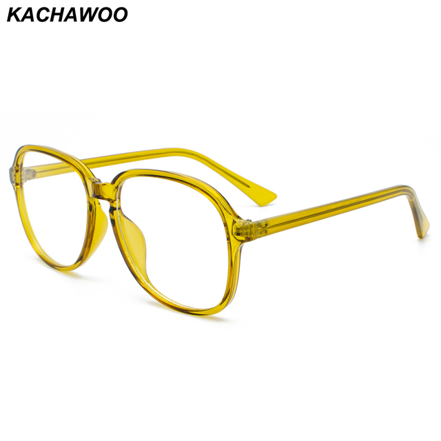 8ac2284b8ca Kachawoo Retro Style Eyeglasses Frames Men Transparent Women Big Glasses  Optical Candy Color New Year Gift 2019