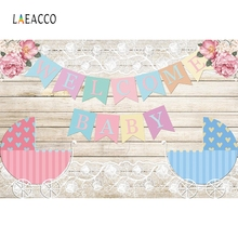 Laeacco Welcome Newborn Baby Wooden Backdrop Photography Backgrounds Customized Photographic For Photo Studio