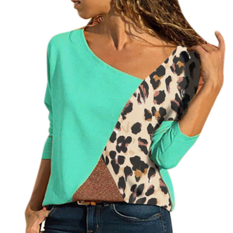 New 2019 Spring Blouse Women Leopard Long Sleeve Harajuku Casual Womens Tops And Blouses Plus Size SJ1585T