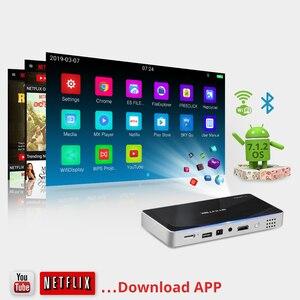 Image 3 - 2020 جديد بايينتيك P10 الذكية أندرويد واي فاي جيب صغير محمول إضاءة ليد كاملة الوضوح العارض للهواتف الذكية المسرح المنزلي 1080P ماكس 4K