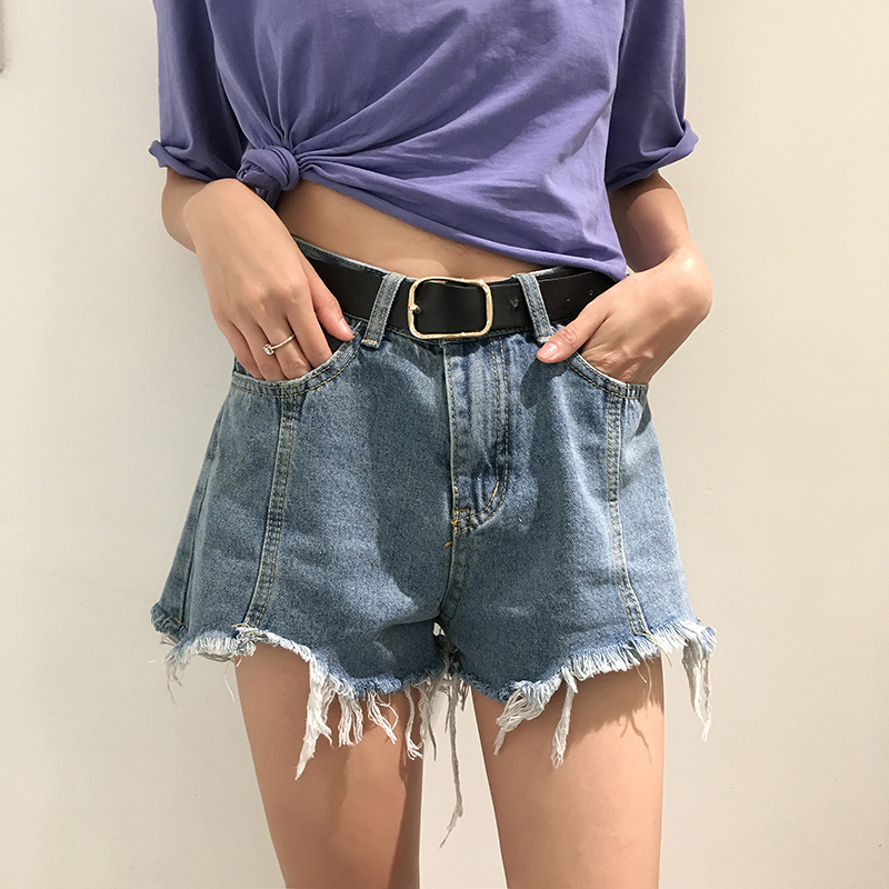 Vintage High Waist Ripped Fringe Denim Shorts Women Summer Fashion Slim Casual Femme Short Jeans Mujer in Shorts from Women 39 s Clothing