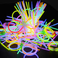 Неоновый светящийся светильник для рождественской вечеринки, 100 шт., детская забавная светящаяся палочка, игрушки светится в темноте, флуор...