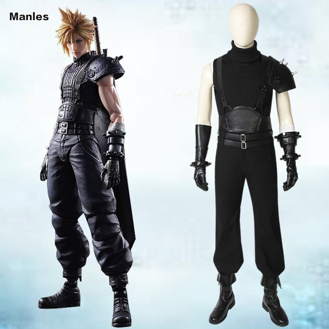 Final Fantasy VII FF7 Cosplay Cloud Strife Costume Anime Game Halloween Christmas Adult Men Custom Made Gloves Props Uniform