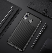 For Samsung Galaxy M10 M20 A10 Case Colored Matte Carbon Fiber Silicone TPU Shockproof Case For Samsung Galaxy A30 A40 A50 A70
