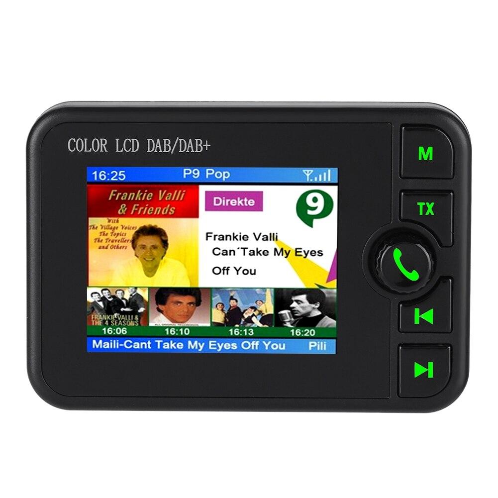 Voiture DAB Radio Portable Numérique FM Radio 170-240 MHz DAB/87.5-108 MHz FM De Voiture Numérique DAB Radio avec Écran LCD Écran Nouvelle