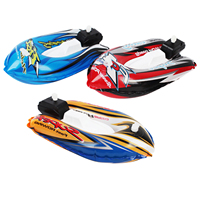 Kids Inflatable Speedboat Wind up Ship Model Clockwork Boat Bath Toy Swimming Pool Water Play Toys Random Colors