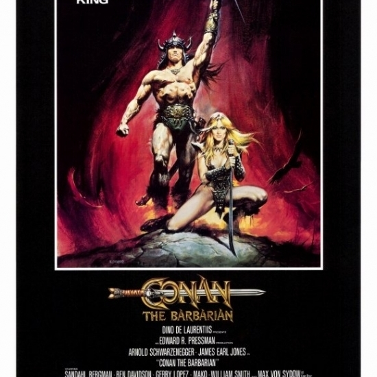 Conan The Barbarian Movie Poster (27 X 40)-in Plaques