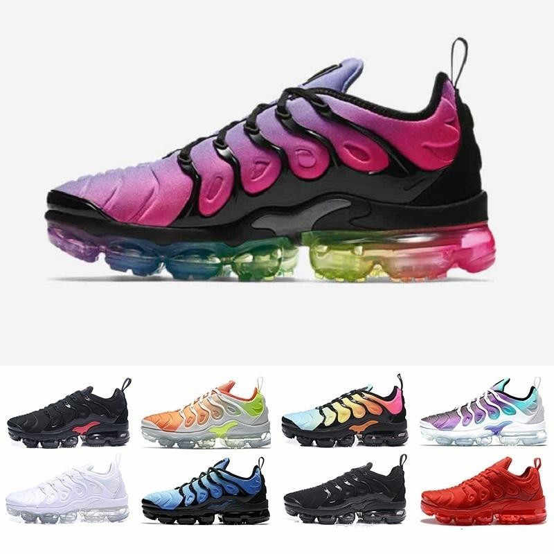 72d6d03b0b48d8 New Vapormax Tn Plus Running Shoes Classic Outdoor Run Shoes Tn Black White  Sport Shock Sneakers
