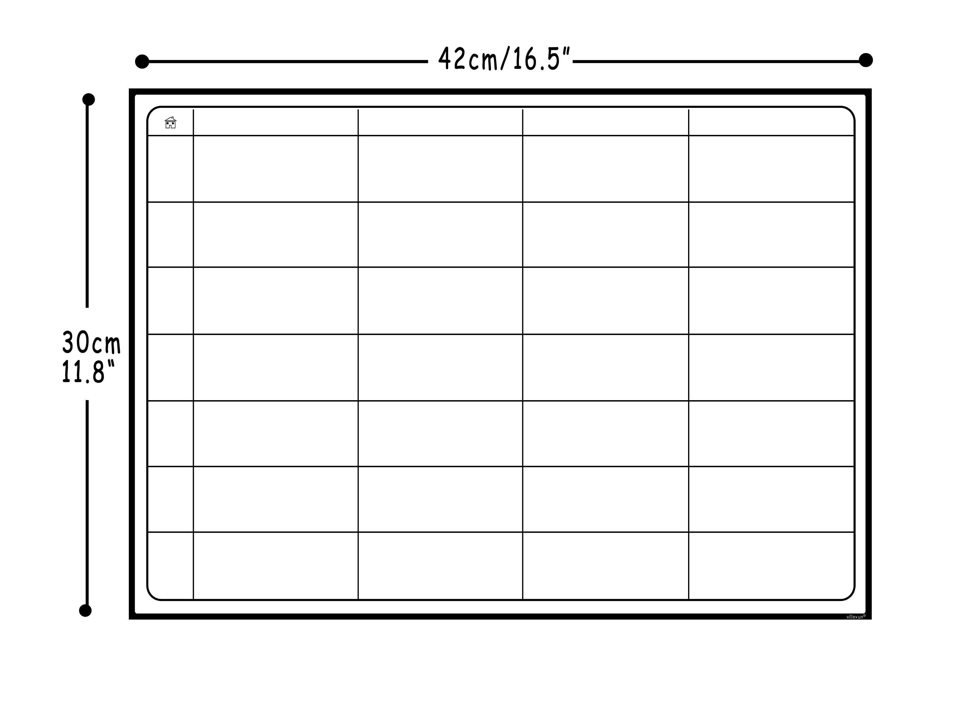 School White Boards Planner Board Magnetic Whiteboard Chore Daily Weekly Monthly Scheduling Magnetic Fridge Stickers With 8 Pen
