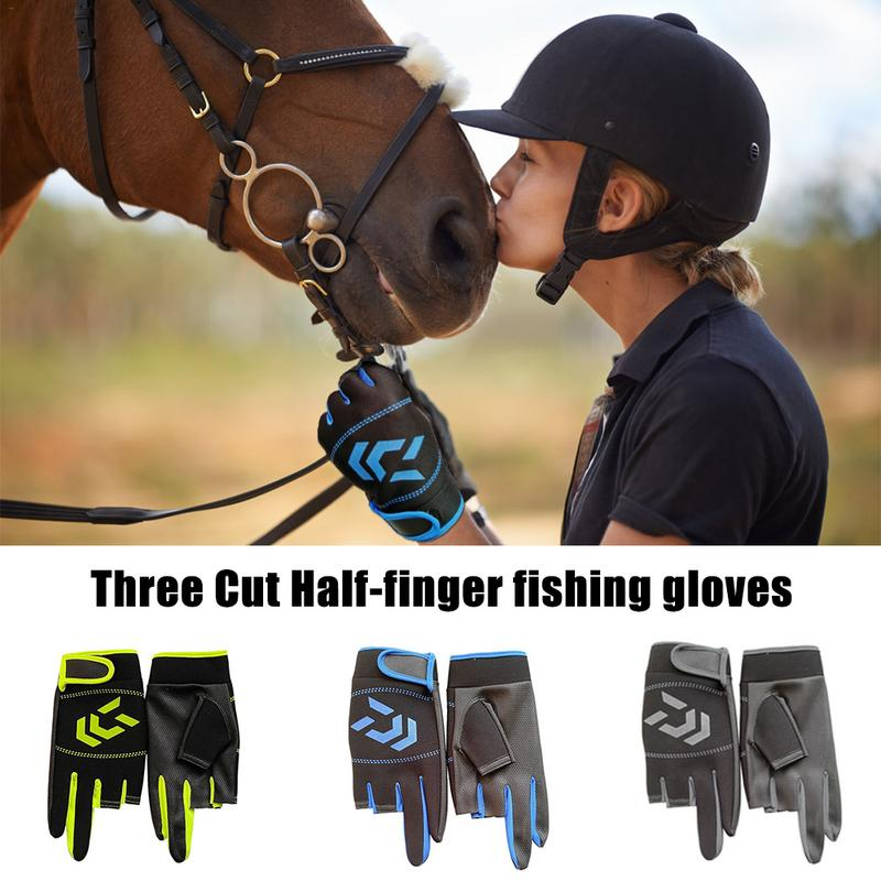 Image 2 - Outdoor Breathable Fishing Gloves Non Slip Protection Against Stab Wounds 3 Fingers High Quality Fishing Sport Waterproof Gloves-in Fishing Gloves from Sports & Entertainment