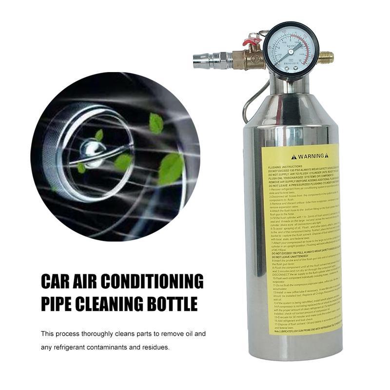 Bouteille de nettoyage de tuyau de climatisation de voiture A/C Kits de chasse cartouche pour outil de pistolet propre pour R134a R12 R22 R410a R404a