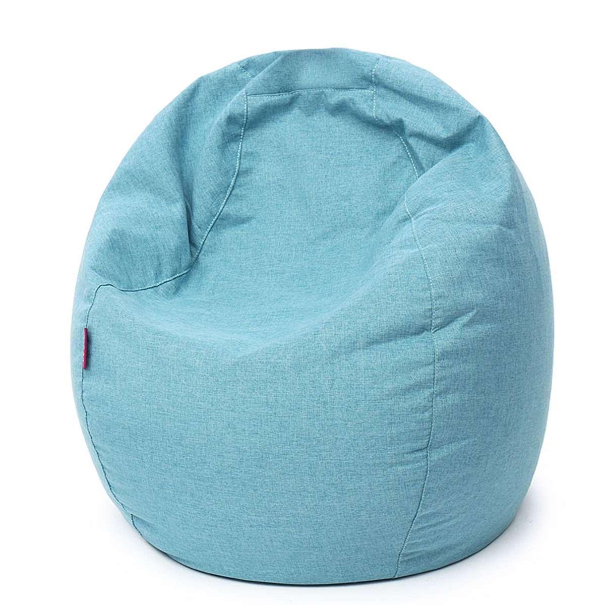 60*70 cm paresseux haricot sac canapé chaise lin tissu chaise longue siège canapé haricot sac Pouf bouffée canapé Tatami salon pour enfants adultes