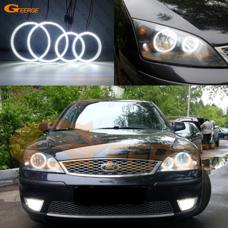 For FORD Mondeo MK3 2001 2007 Halogen headlight Excellent angel eyes Ultra bright illumination smd led Angel Eyes kit