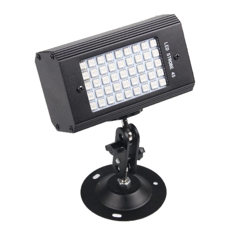 Mini 45LED Strobe Stage Light USB Sound Activated Disco KTV Party ProjectorMini 45LED Strobe Stage Light USB Sound Activated Disco KTV Party Projector