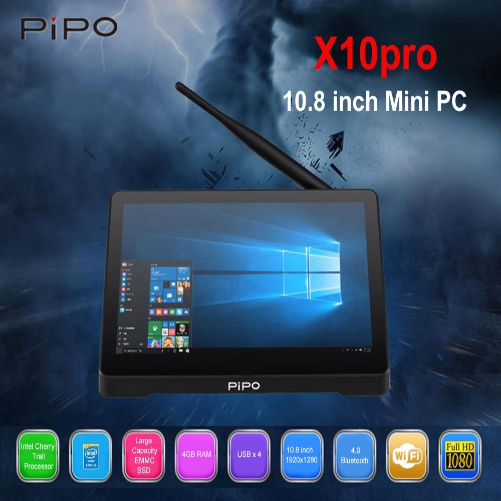 Pipo X10 PRO Mini PC Intel Cherry Trail Z8350 Finestre 10 Android 5.1 Mini PC 4 GB 64 GB 2.4G WiFi 100 Mbps Bluetooth Media Player