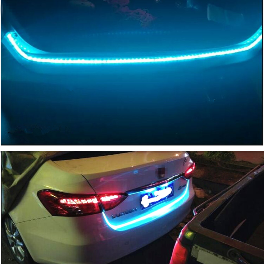 Car styling led Colored lights Stickers for Ssangyong Kyron Rexton Korando Fiat 500 Lifan x60 Chery Tiggo Accessories For Lada image