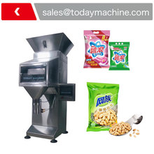 1-2000 g Automatic Dry Chemical Powder Filling Machine Weighing Filling Machine double hopper stainless steel semi automatic food chemical particle filling machine