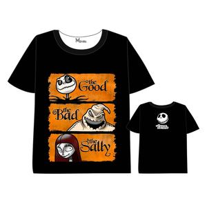 Anime  The Nightmare Before Christmas T-shirt Men Women Short Sleeve Summer dress  Jack Skellington  t shirt