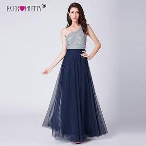 Image 3 - Sexy une ligne robes de soirée pour les femmes jamais assez élégant une épaule sans manches dos nu paillettes longues robes de soirée formelles 2020