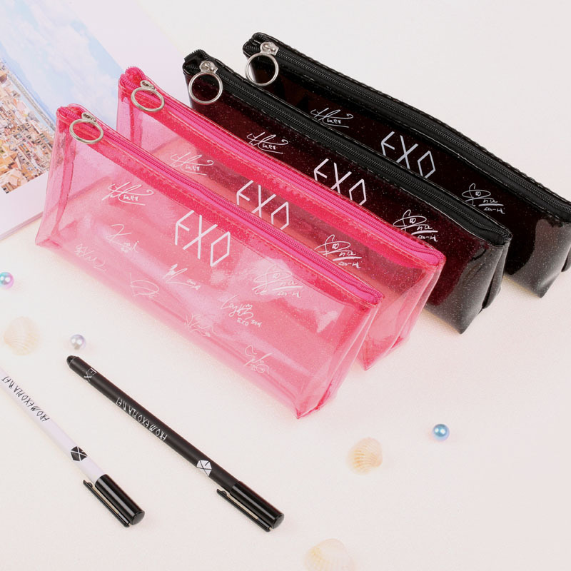 exo Pen Bag Comestic Case Fluorescent Transparent Bag Kpop Collection Sa18091003 Toys & Hobbies mykpop