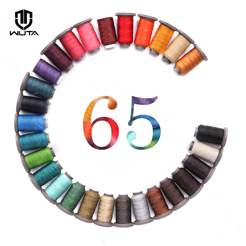 WUTA NEW 0.65mm Leather Craft Hand Sewing Thread Polyester Round Waxed Line  DIY Leather Work Cord 28Colors Available