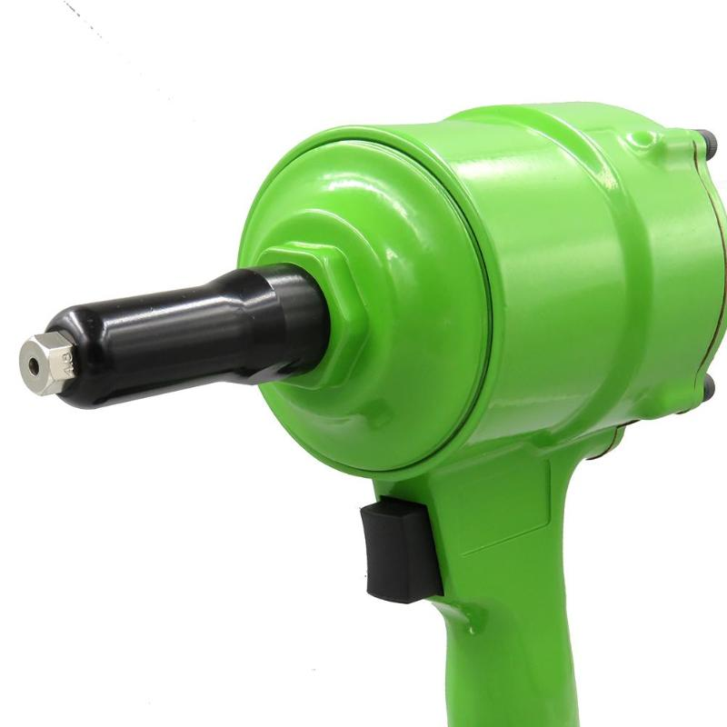 Green KP-705P Pneumatic Pistol Type Pop Rivet Gun Air Power Operated Riveter Air Riveter Rivet Nut Guns Home DIY Tools