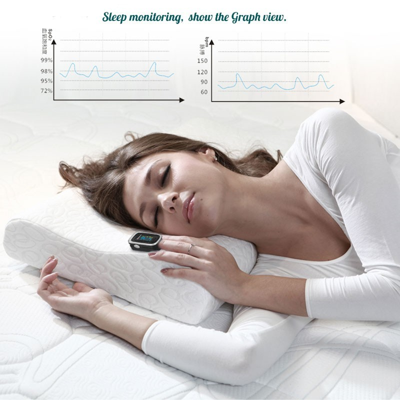 Finger Pulse Fingertip Oled Portable Oximeter SPO2 PR PI 8 hours sleep monitor Blood Oxygen Oximetro pediatrico De Dedo a case in Blood Pressure from Beauty Health